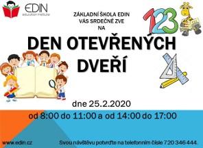 Den otevřených dveří v ZŠ EDIN